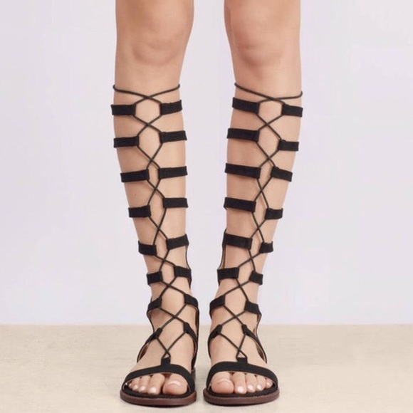 043537b79a7c Chinese Laundry Shoes - Chinese Laundry Knee-High Gladiator Sandals
